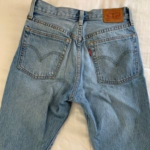 Levi's 501 skinny distressed jeans. Size 25